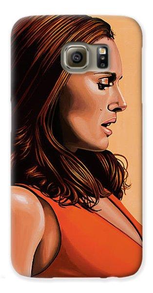 Swan Galaxy S6 Case - Natalie Portman 2 by Paul Meijering