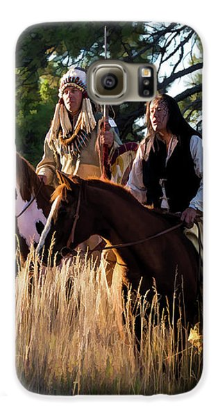 Native Americans On Horses In The Morning Light Galaxy S6 Case