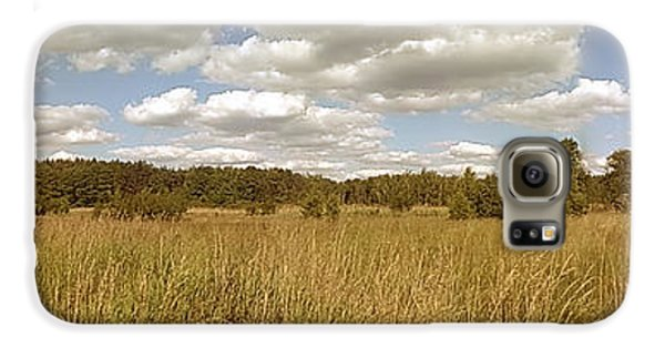 Natural Meadow Landscape Panorama. Galaxy S6 Case