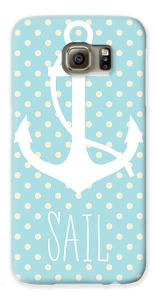 Nautical Anchor Art Print Galaxy S6 Case by Taylan Apukovska