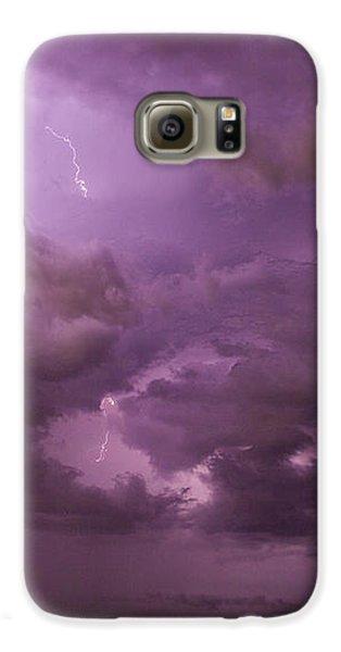 Nebraskasc Galaxy S6 Case - Nebraska Night Thunderstorm Beast 001 by NebraskaSC