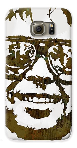 Neil Young Pop  Stylised Art Sketch Poster Galaxy S6 Case by Kim Wang
