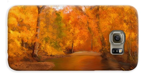New England Autumn In The Woods Galaxy S6 Case