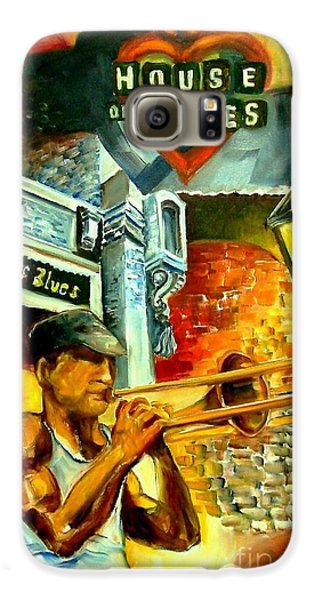 Trombone Galaxy S6 Case - New Orleans' House Of Blues by Diane Millsap