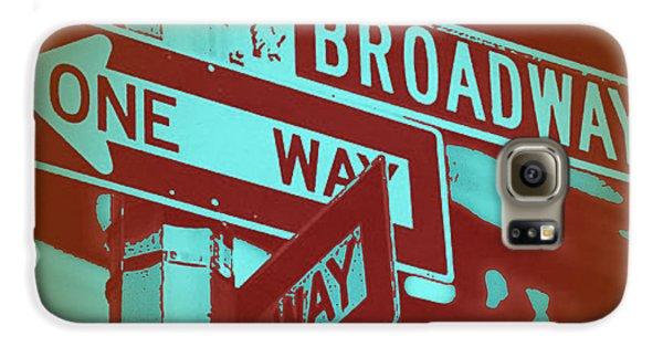 Broadway Galaxy S6 Case - New York Broadway Sign by Naxart Studio