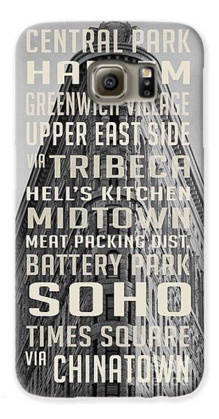 Harlem Galaxy S6 Case - New York City Subway Stops Flat Iron Building by Edward Fielding