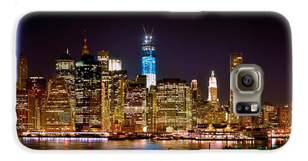 Skylines Galaxy S6 Case - New York City Tribute In Lights And Lower Manhattan At Night Nyc by Jon Holiday