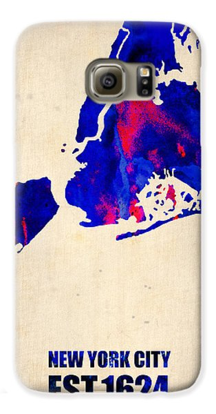New York City Watercolor Map 1 Galaxy S6 Case by Naxart Studio