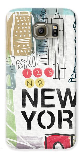 New York Cityscape- Art By Linda Woods Galaxy S6 Case by Linda Woods