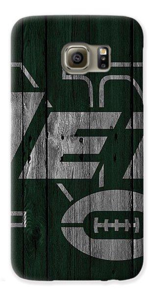 New York Jets Wood Fence Galaxy S6 Case by Joe Hamilton