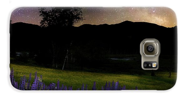 Galaxy S6 Case featuring the photograph Night Flowers Square by Bill Wakeley