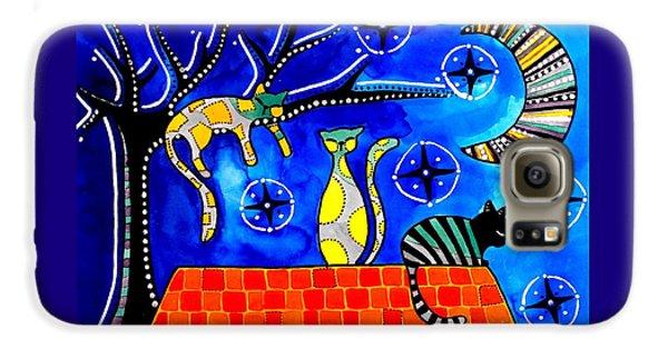 Night Shift - Cat Art By Dora Hathazi Mendes Galaxy S6 Case
