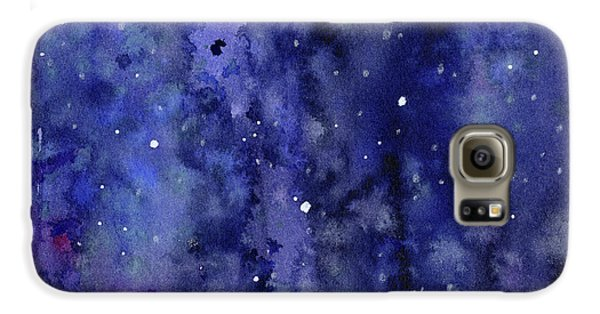 Space Galaxy S6 Case - Night Sky Watercolor Galaxy Stars by Olga Shvartsur