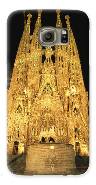 Night View Of Antoni Gaudis La Sagrada Galaxy S6 Case