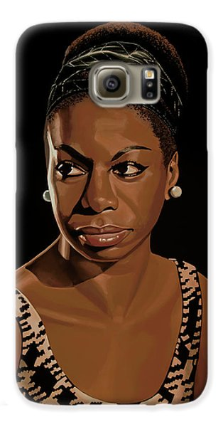Rhythm And Blues Galaxy S6 Case - Nina Simone Painting 2 by Paul Meijering