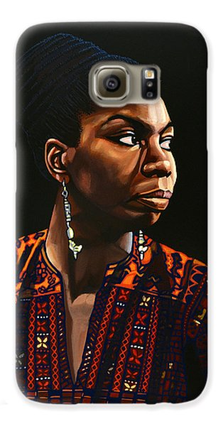 Rhythm And Blues Galaxy S6 Case - Nina Simone Painting by Paul Meijering