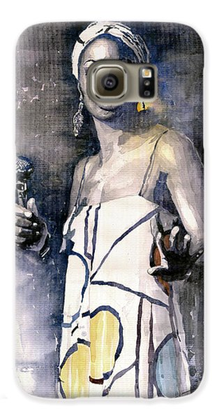 Jazz Galaxy S6 Case - Nina Simone by Yuriy Shevchuk