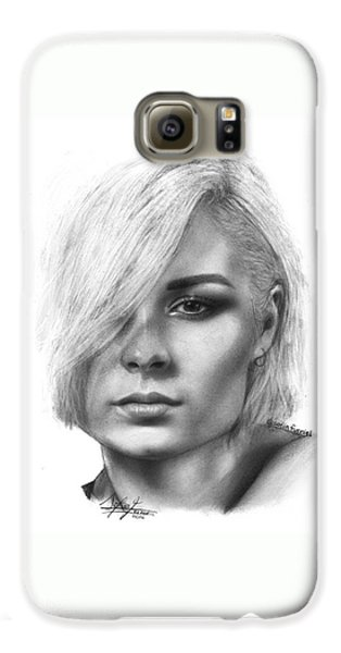 Nina Nesbitt Drawing By Sofia Furniel Galaxy S6 Case