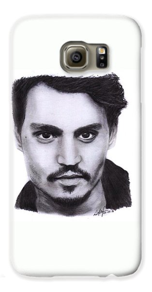 Johnny Depp Drawing By Sofia Furniel Galaxy S6 Case