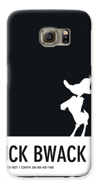 No03 My Minimal Color Code Poster Daffy Duck Galaxy S6 Case
