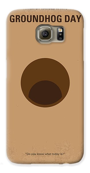 No031 My Groundhog Minimal Movie Poster Galaxy S6 Case by Chungkong Art