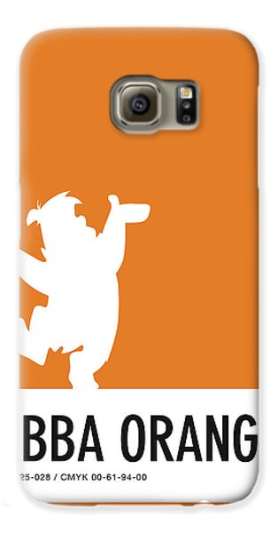 No04 My Minimal Color Code Poster Fred Flintstone Galaxy S6 Case