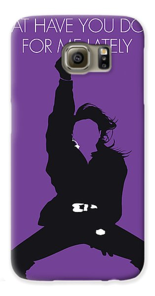 Rhythm And Blues Galaxy S6 Case - No091 My Janet Jackson Minimal Music Poster by Chungkong Art