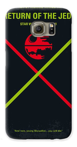 No156 My Star Wars Episode Vi Return Of The Jedi Minimal Movie Poster Galaxy S6 Case by Chungkong Art
