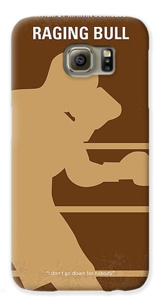 Bull Galaxy S6 Case - No174 My Raging Bull Minimal Movie Poster by Chungkong Art