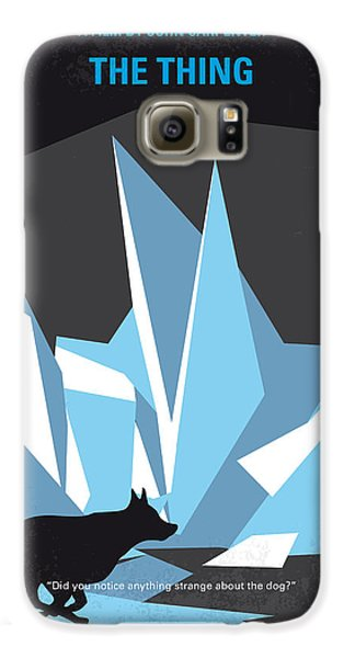 No466 My The Thing Minimal Movie Poster Galaxy S6 Case by Chungkong Art