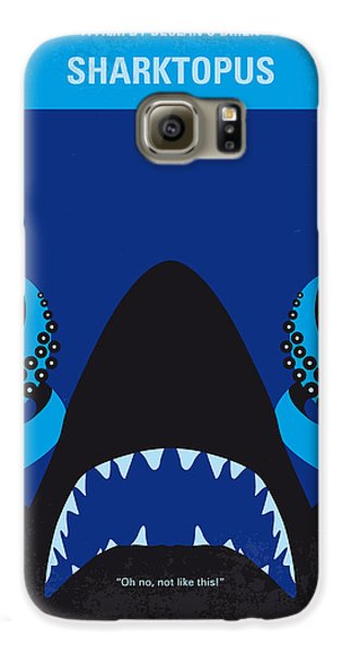 No485 My Sharktopus Minimal Movie Poster Galaxy S6 Case by Chungkong Art