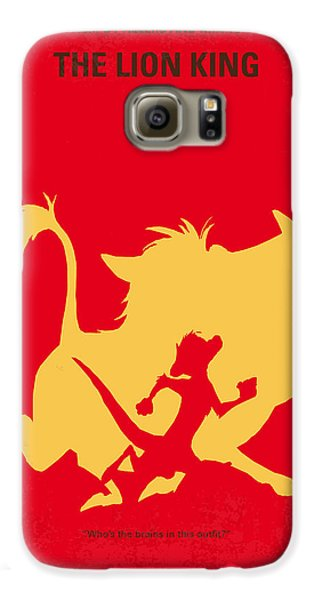 Lion Galaxy S6 Case - No512 My The Lion King Minimal Movie Poster by Chungkong Art