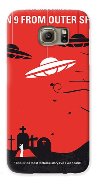 Space Galaxy S6 Case - No518 My Plan 9 From Outer Space Minimal Movie Poster by Chungkong Art