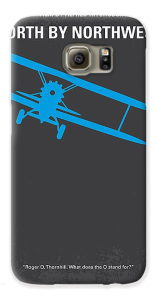 No535 My North By Northwest Minimal Movie Poster Galaxy S6 Case by Chungkong Art