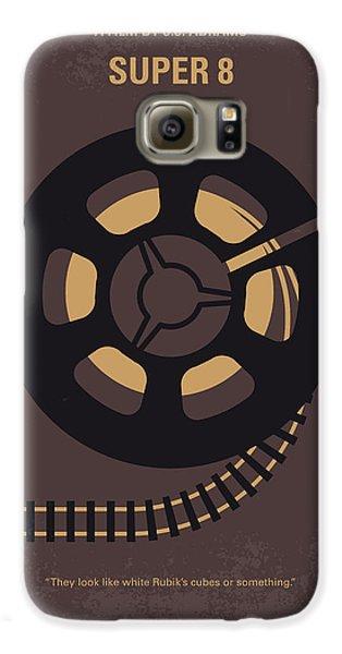 Train Galaxy S6 Case - No578 My Super 8 Minimal Movie Poster by Chungkong Art