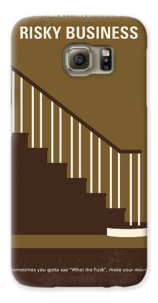 No615 My Risky Business Minimal Movie Poster Galaxy S6 Case by Chungkong Art