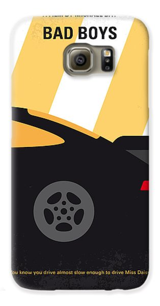 No627 My Bad Boys Minimal Movie Poster Galaxy S6 Case by Chungkong Art