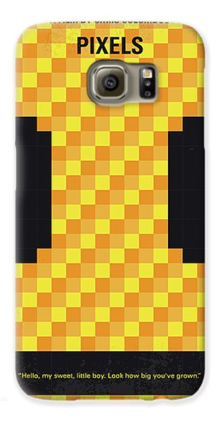 Outer Space Galaxy S6 Case - No703 My Pixels Minimal Movie Poster by Chungkong Art