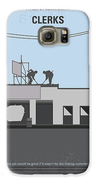 Hockey Galaxy S6 Case - No715 My Clerks Minimal Movie Poster by Chungkong Art