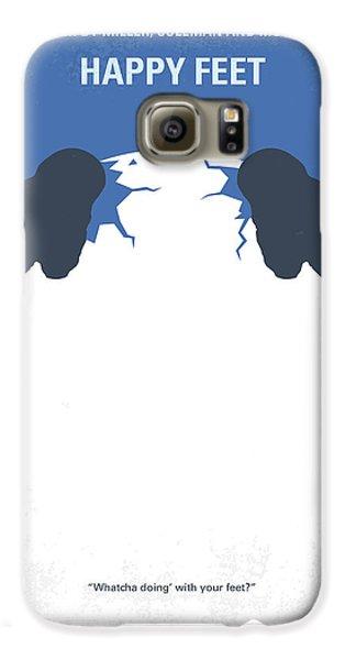 Penguin Galaxy S6 Case - No744 My Happy Feet Minimal Movie Poster by Chungkong Art