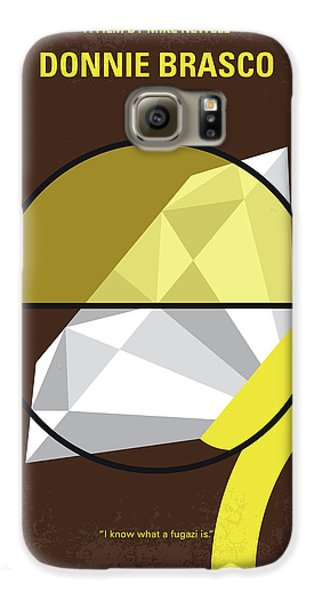 Johnny Depp Galaxy S6 Case - No766 My Donnie Brasco Minimal Movie Poster by Chungkong Art
