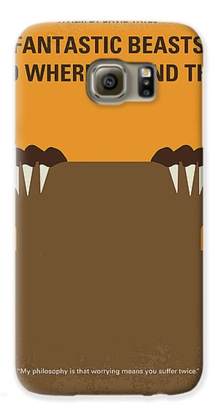 Wizard Galaxy S6 Case - No962 My Fantastic Beasts And Where To Find Them Minimal Movie Poster by Chungkong Art