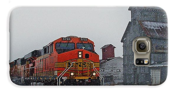Northbound Winter Coal Drag Galaxy S6 Case by Ken Smith