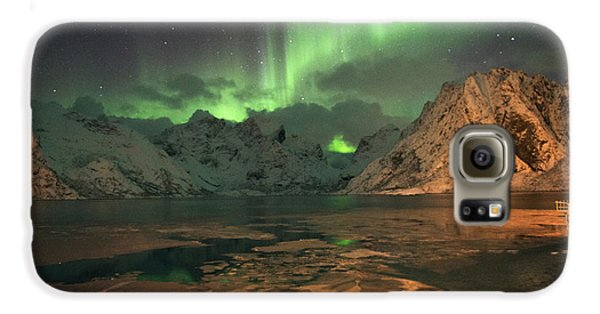 Northern Light In Lofoten, Nordland 1 Galaxy S6 Case by Dubi Roman