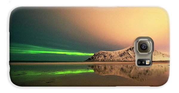 Northern Light In Lofoten Nordland 5 Galaxy S6 Case by Dubi Roman