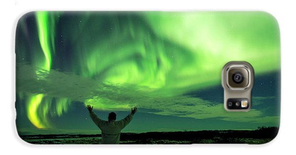 Northern Light In Western Iceland Galaxy S6 Case by Dubi Roman