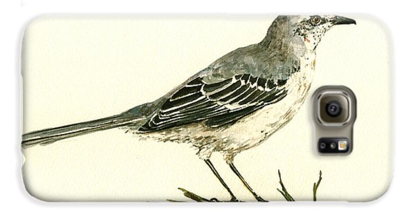 Northern Mockingbird Galaxy S6 Case by Juan  Bosco