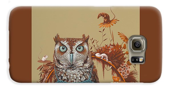 Northern Screech Owl Galaxy S6 Case