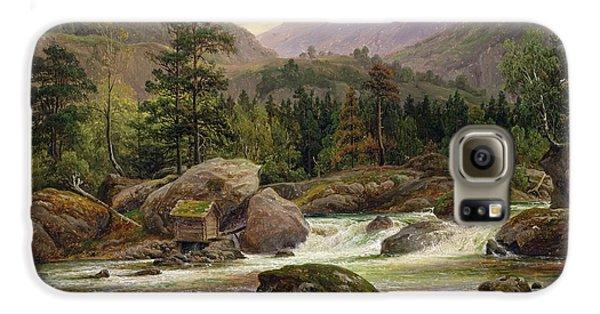 Norwegian Waterfall Galaxy S6 Case