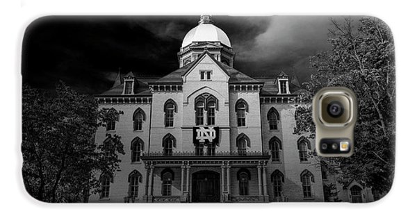 Notre Dame University Black White 3a Galaxy S6 Case by David Haskett